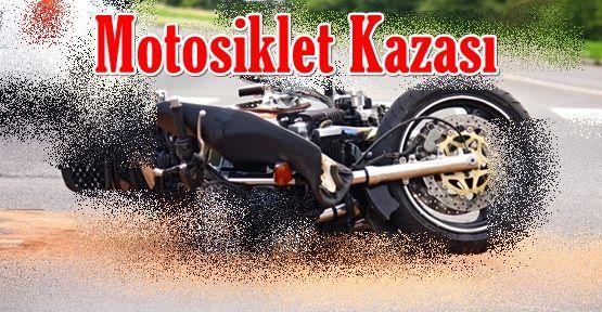 EYNESİL TÜNEL'İNDE MOTOSİKLET KAZASI