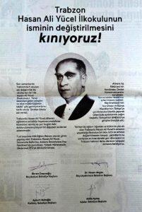 EFSANE BAKAN HASAN ALİ YÜCEL'E TRABZON'DA SAYGISIZLIK...
