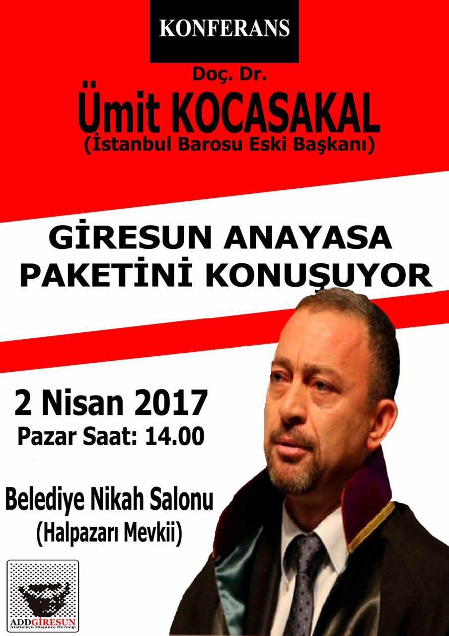 Photo of ÜMİT KOCASAKAL ADD'NİN KONUĞU OLARAK GİRESUN'DA
