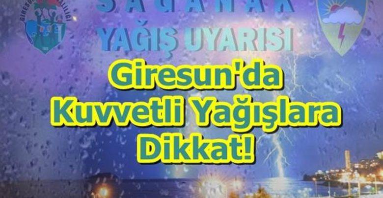 DİKKAT!..METEOROLOJİ UYARDI: GİRESUN'DA YAĞMUR SEL, SU BASKININA NEDEN OLABİLİR
