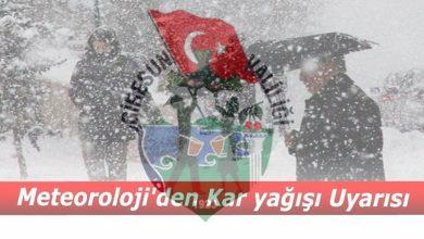 Photo of HAFTA SONU YAĞMUR VE KAR VAR