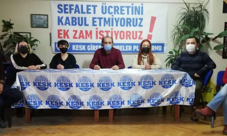 KESK'TEN 'ZAM' TEPKİSİ