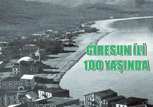 GİRESUN'UN YÖNETİCİLERİ 100. YILI SONRADAN HATIRLADILAR