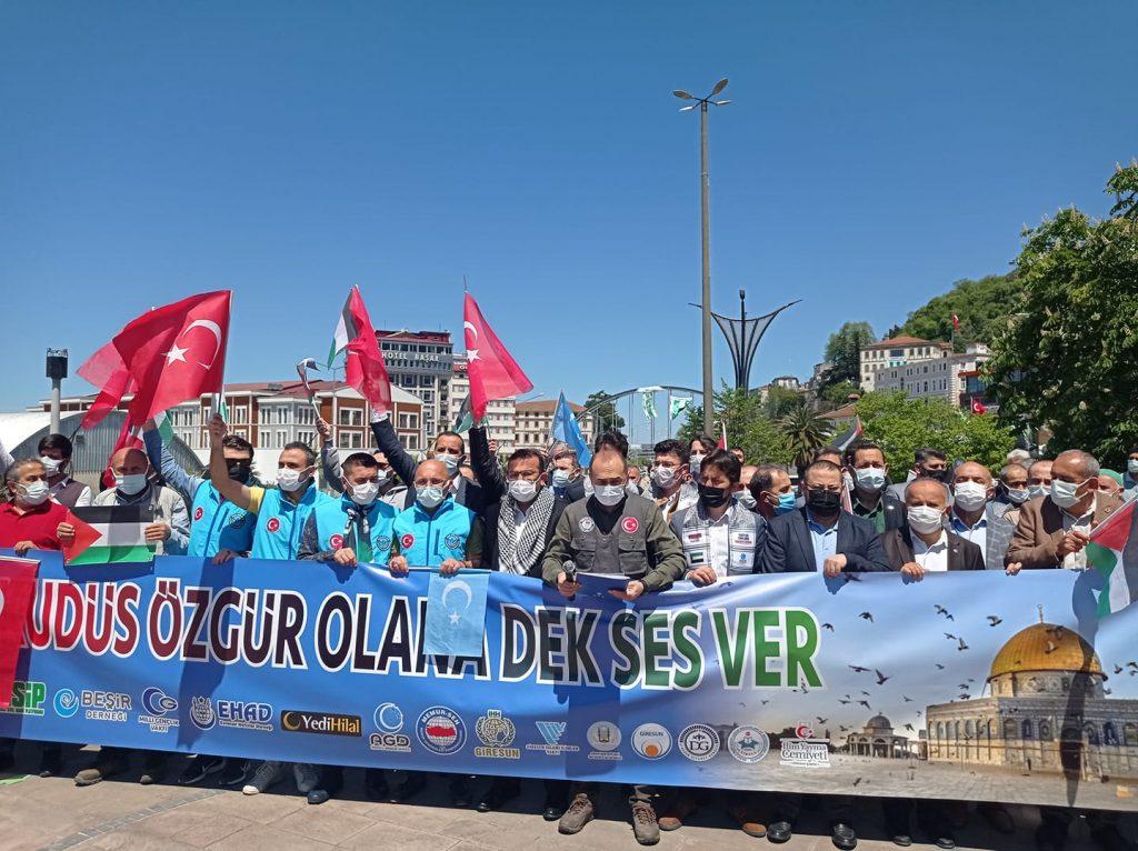 GİRESUN'DAN FİLİSTİNE DESTEK