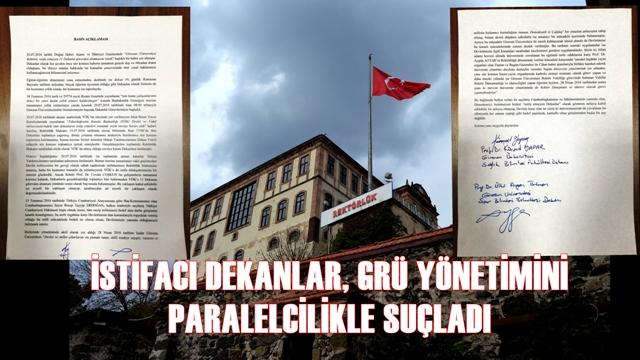 REKTÖR COŞKUN'A VAHİM İDDİALAR...