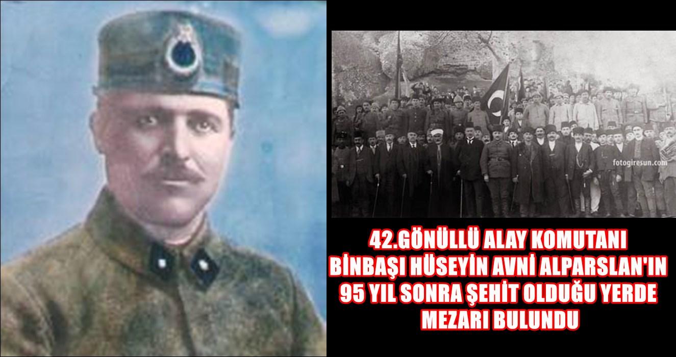 ŞEHİT BİNBAŞI HÜSEYİN AVNİ ALPARSLAN'IN MEZARI HAYMANA'DA...