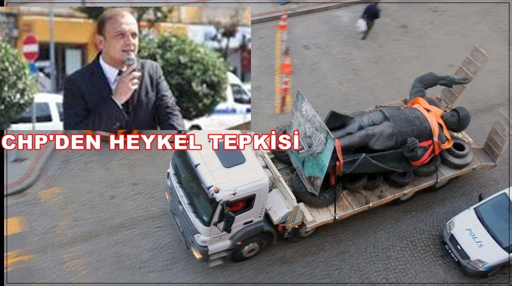 ATATÜRK'ÜN HEYKELİNE SAYGISIZLIĞA TEPKİ