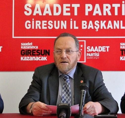 SAADET PARTİ İL BAŞKANI ÖMER ÖZTÜRK'TEN FINDIK ÖNERİSİ