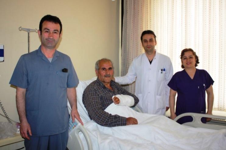 ALUCRA'DA AYI SALDIRISINDA YARALANAN TOKMAK İYİLEŞİYOR