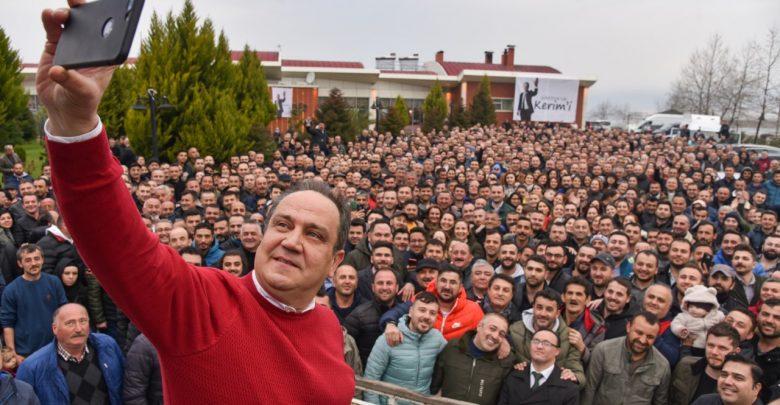 """MİLLET İTTİFAKININ CHP'Lİ ADAYI KERİM AKSU 'ÖNDEYİZ, KAZANIYORUZ"""" DEDİ..."""