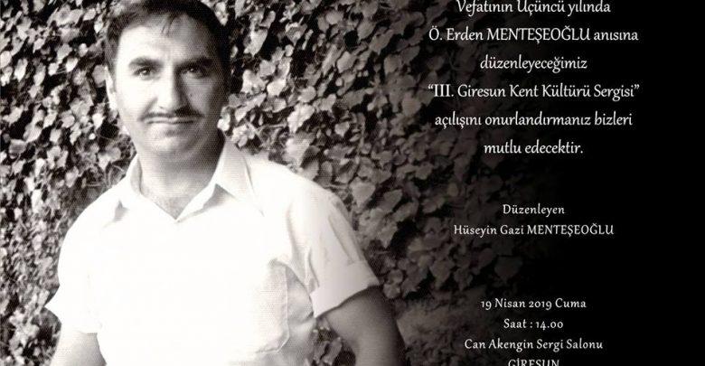 ERDEN MENTEŞEOĞLU ANISINA SERGİ...