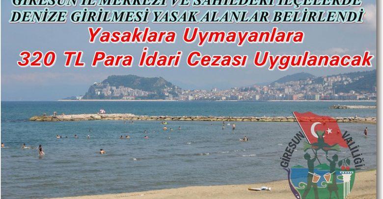 GİRESUN'DA DENİZDE BOĞULMALARA YASAKLI, CEZALI ÖNLEM...