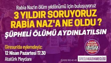 Photo of 1094 GÜNDÜR FAİLİ BULUNAMAYAN RABİ NAZ İÇİN ADALET