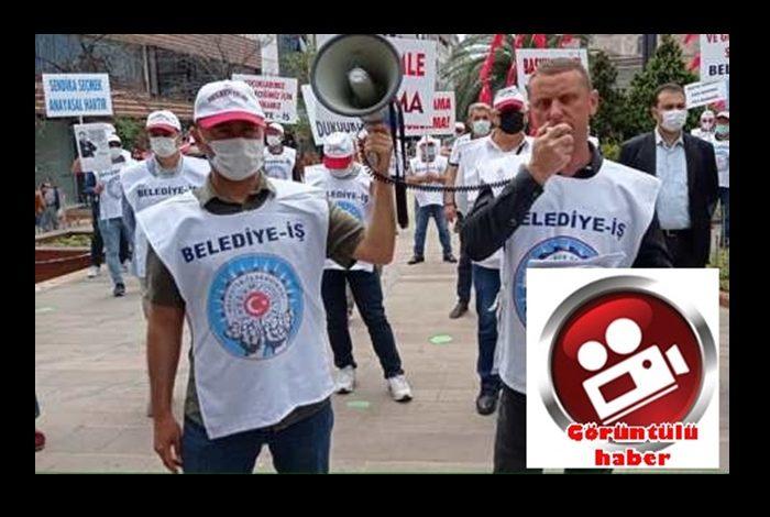 ŞENLİKOĞLU'NA İŞÇİ PROTESTOSU