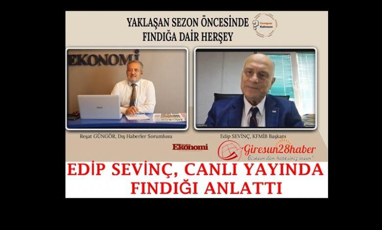 """Sevinç; """"Türk fındık üreticisi ihracatçılarımızın da kırmızı çizgisidir."""""""