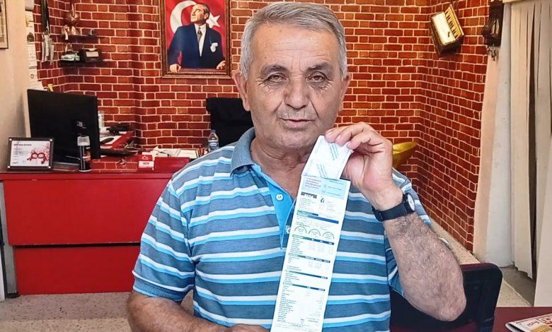 REGAİP AKSOY'A AKSA'DAN 50 KURUŞLUK FATURA/Görüntülü haber
